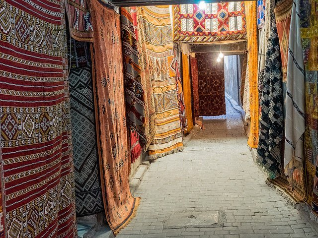 "Fez is highly known for producing one of the best carpets in the world or what they call ""Souk Tillis"". (Photo by Esin Üstün via Flickr. CC BY 2.0)"