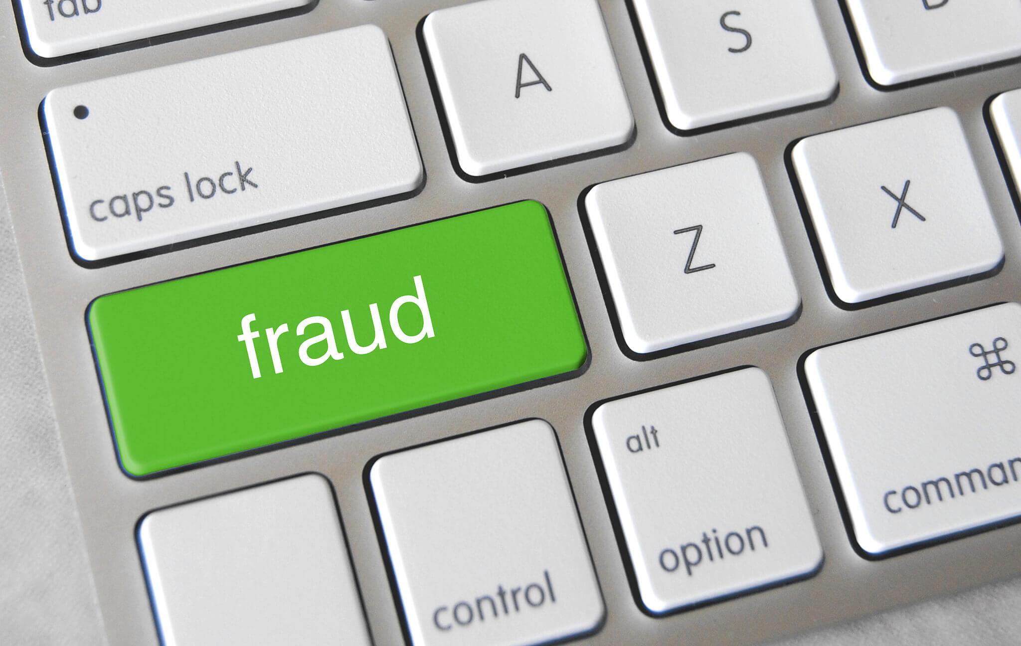 fraud key on laptop