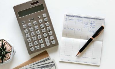 bank book and calculator