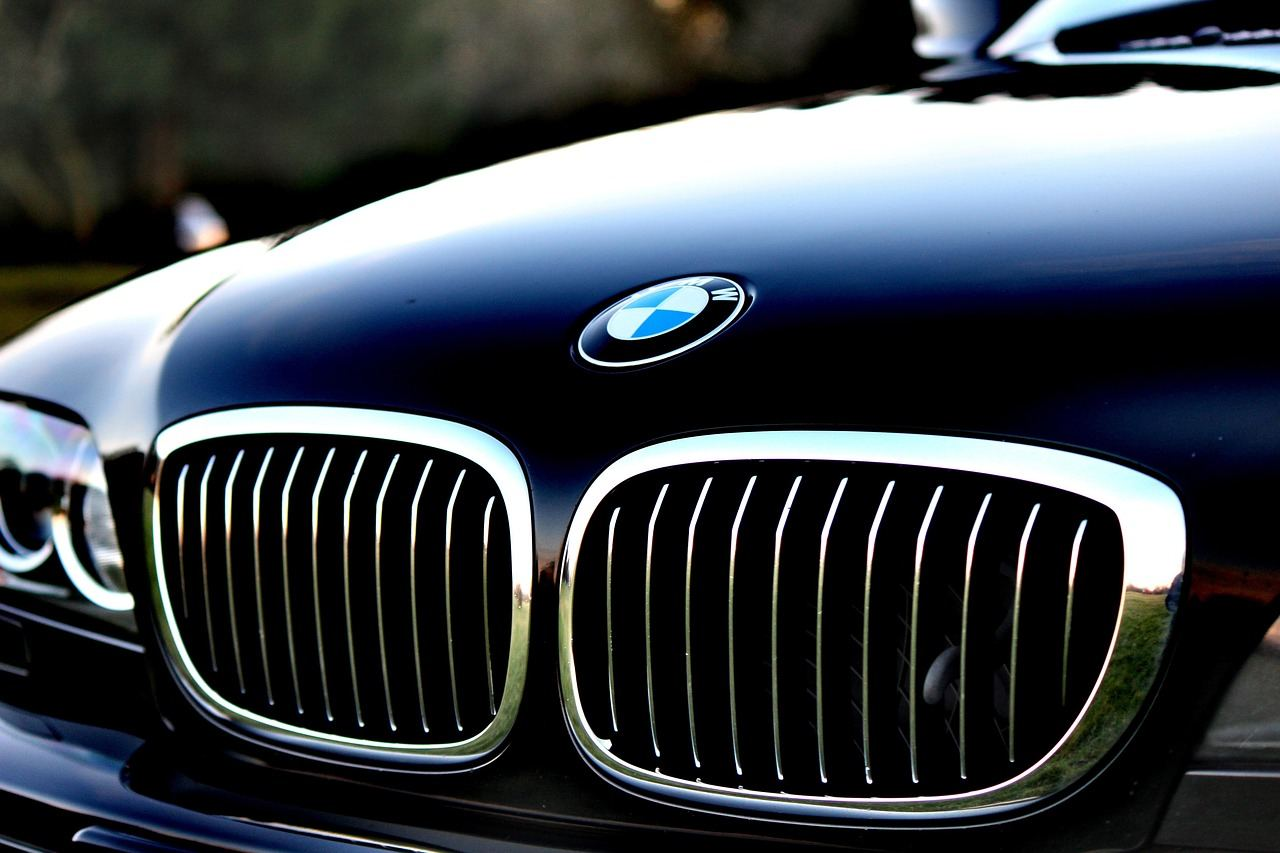 closeup of bmw grill