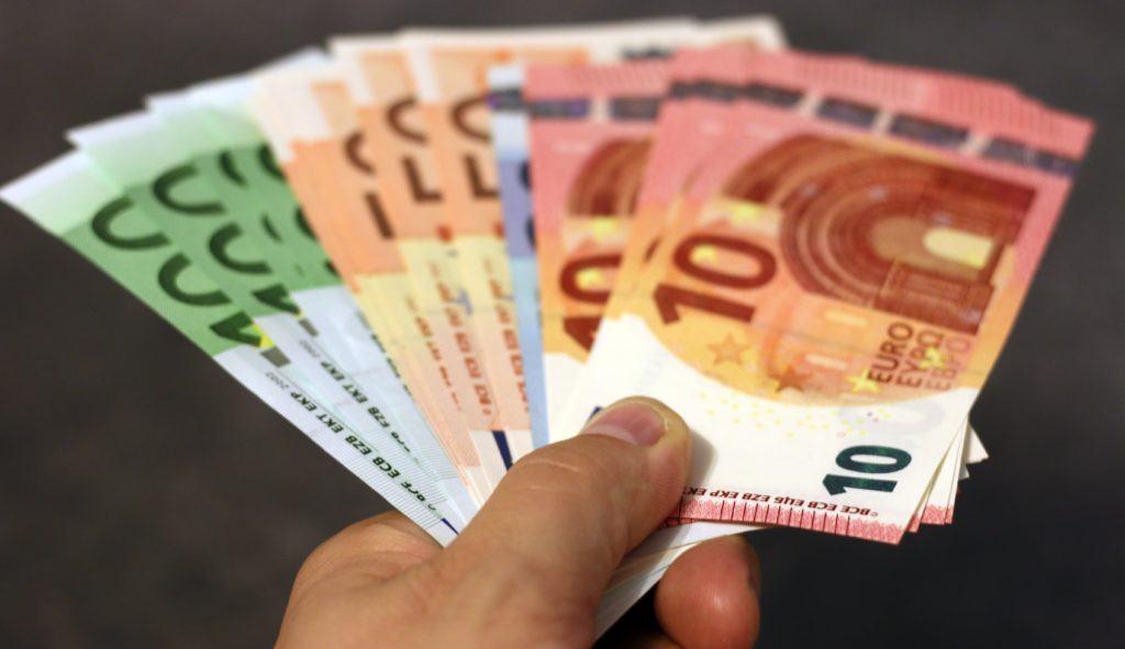 A handful of money
