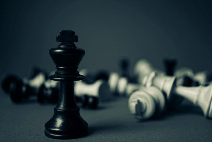 This picture show a couple of chess pieces
