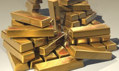 This picture show a lot of gold ingots.