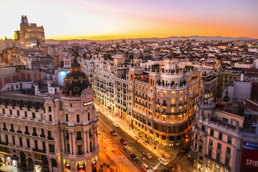 This picture show Madrid seen from above.