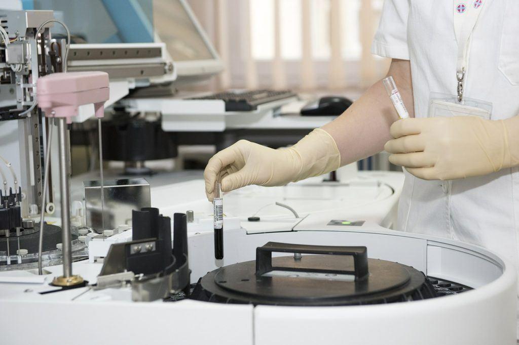Scientist testing in the laboratory