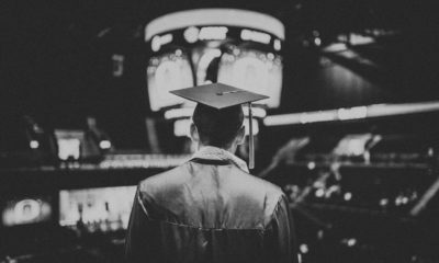 This picture show a man graduating from university.