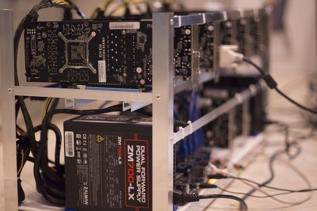 This picture show mining equipment that's being used to farm cryptocurrencies in Venezuela.