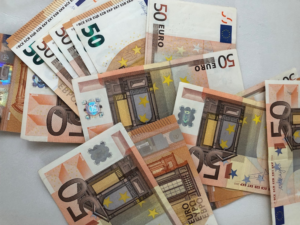 This picture show a couple of euro bill representing investment revenues.