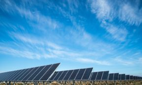 This picture show some solar panels, representing solar energy.