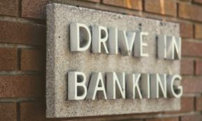 This picture show a drive in banking sign.