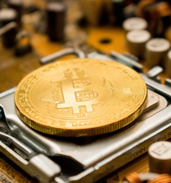 This picture show a bitcoin coin.
