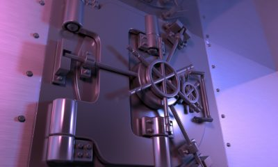 This picture show a bank vault.