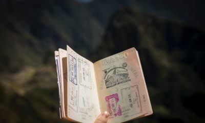 This picture show a passport with an arrival visa on it.