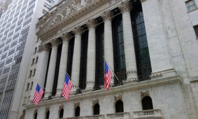 This picture show Wall Street where the Dow Jones stock market is.