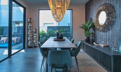 This picture show the dinning room of a house.