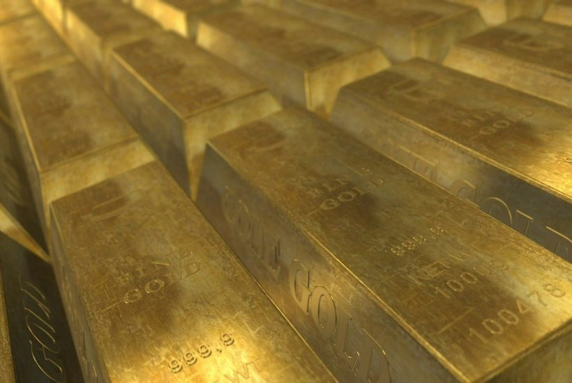This picture shows a couple of gold bars.