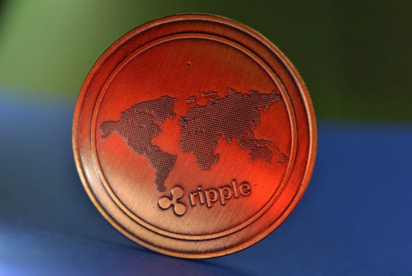 This picture show a ripple coin.