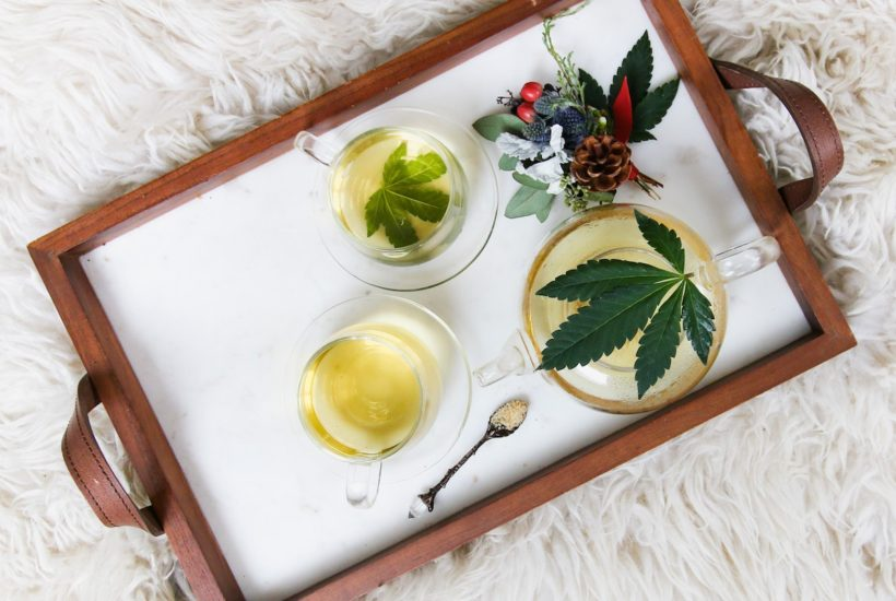 This picture show a cannabis tea.