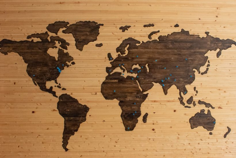 This picture show a a world map.