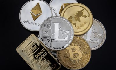 This picture show a bunch of crypto coins.