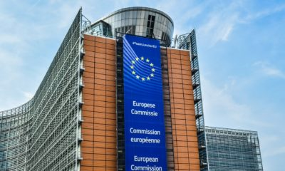 This picture show an EU publicity on a building.