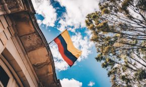 This picture shows the Colombia's flag.
