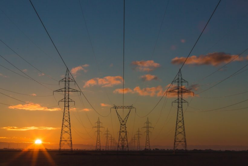 This picture show some electric towers.