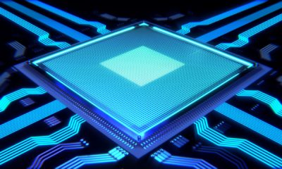 This picture shows a CPU representing the advance in AI technology.