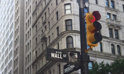 This picture show the wall street sign.