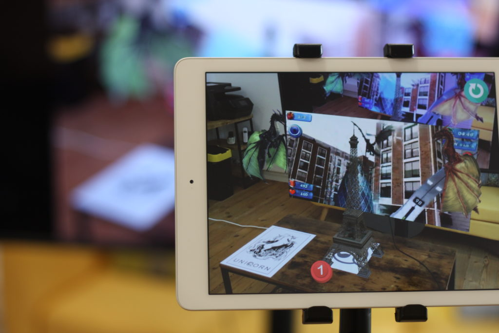 Extended Reality software showcased on a tablet