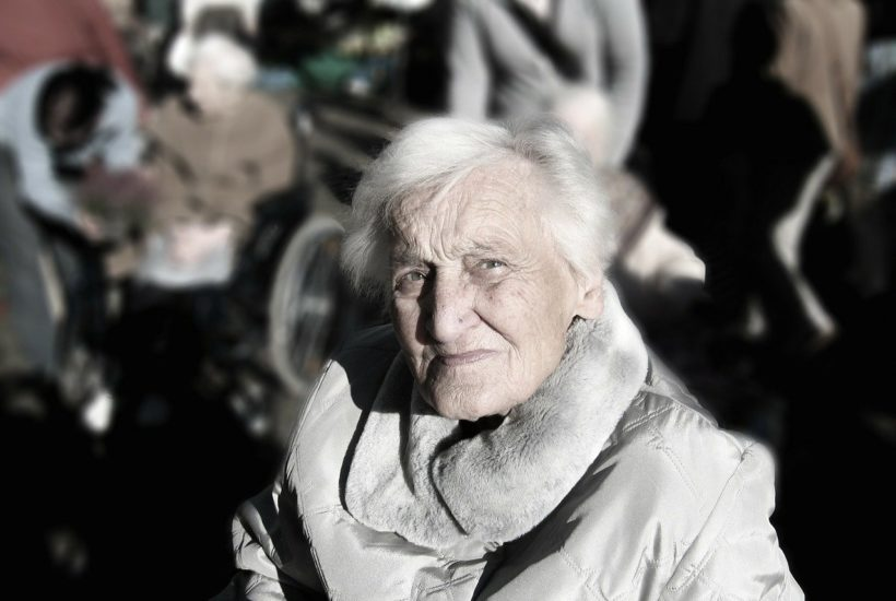 This picture show an old woman.
