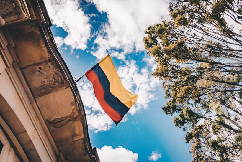 This picture show the Colombian flag.