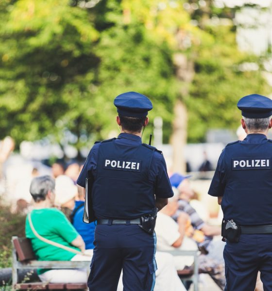 This picture show two policeman.