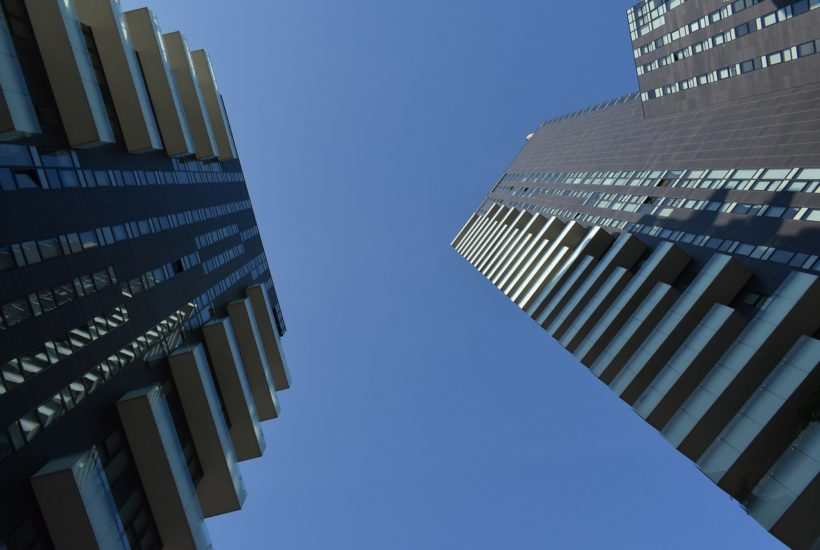 This picture show two buildings.