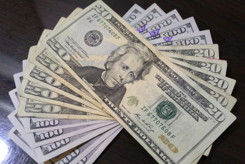 This picture show a couple of US dollars.
