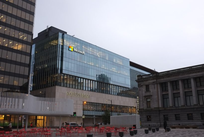 This picture show the Microsoft building.