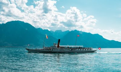 This picture show a Swiss boat.