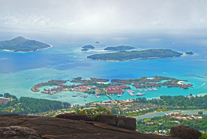 This picture show a couple of islands.