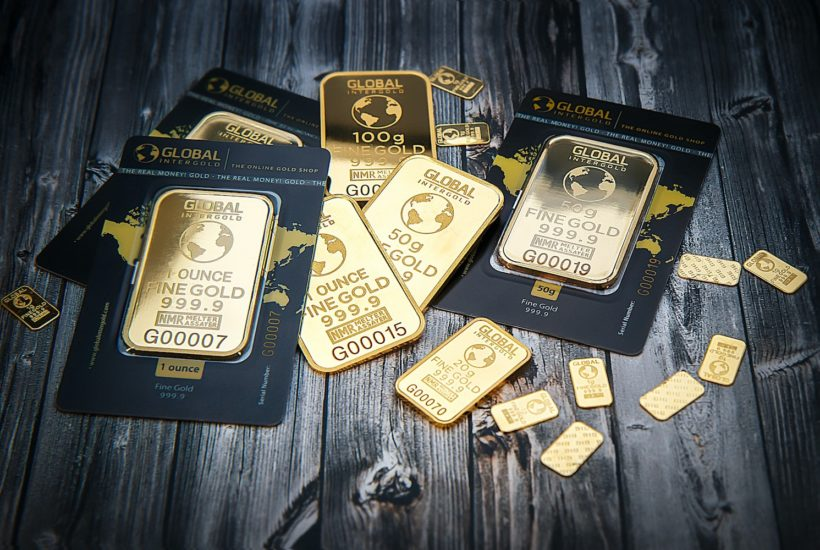 This picture show some gold ingots.