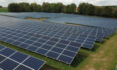 This picture show a couple of solar panels.