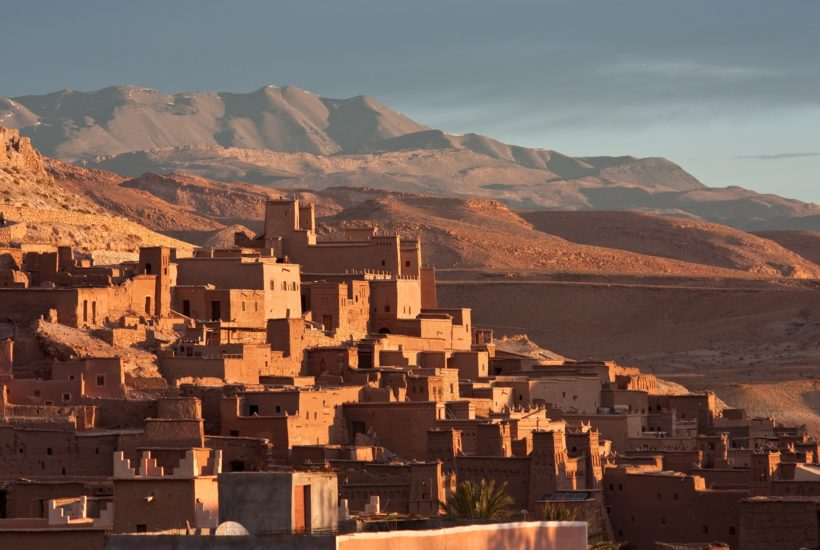 This picture show some building in Morocco.