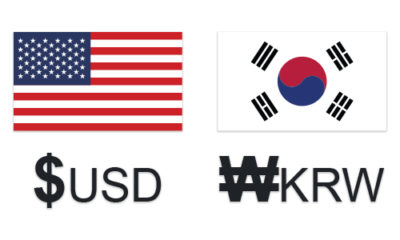 USD KRW exchange rate