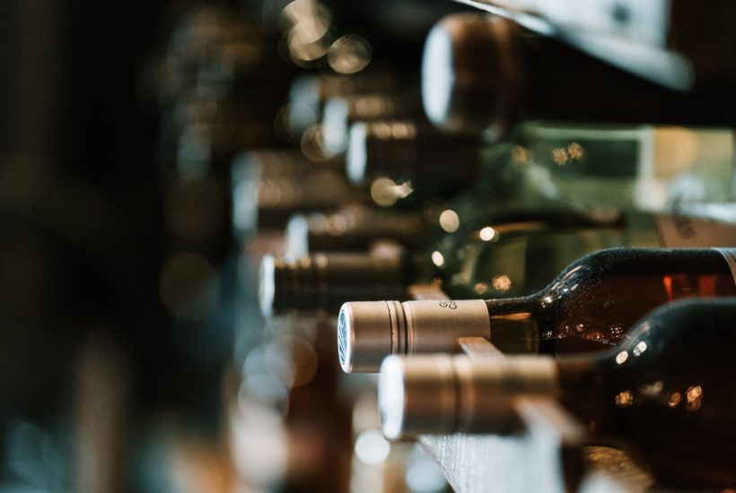 This picture show some wine bottles.