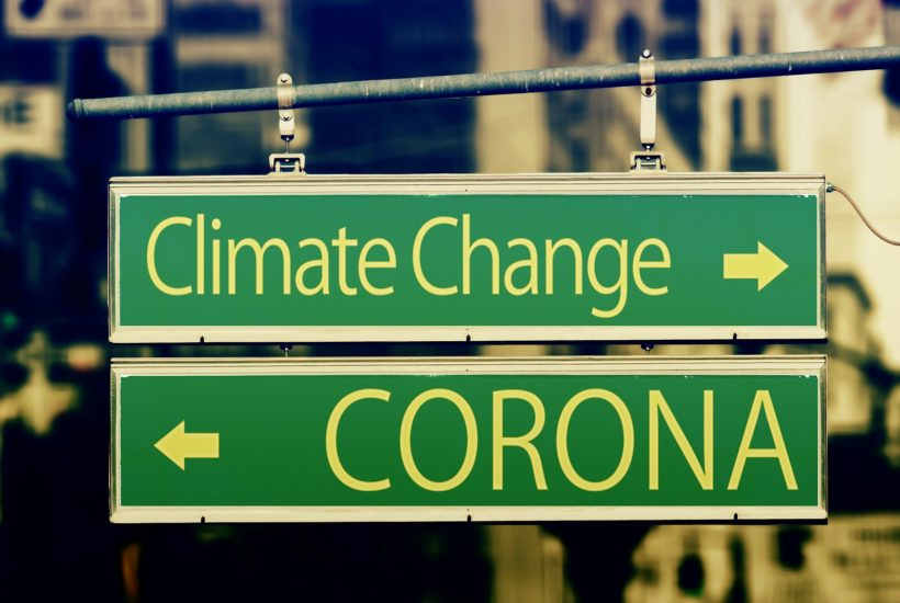 This picture show a climate change sign.