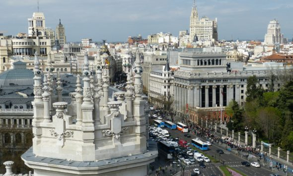 This picture show the city of Madrid.