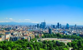 This picture show the city of Milan.