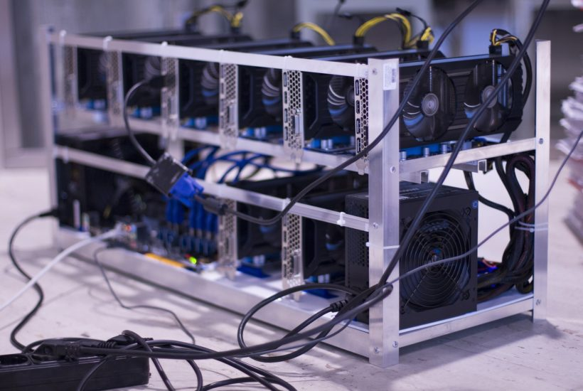This picture show a crypto miner.