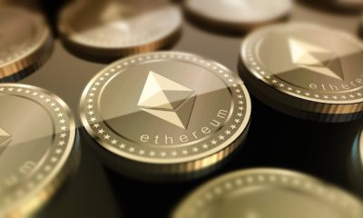 This picture show some Ethereum coins.