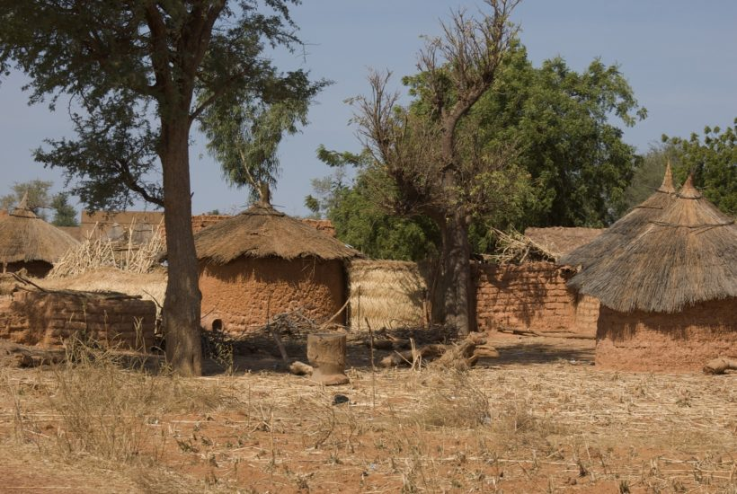 This picture show a village in Burkina Faso.