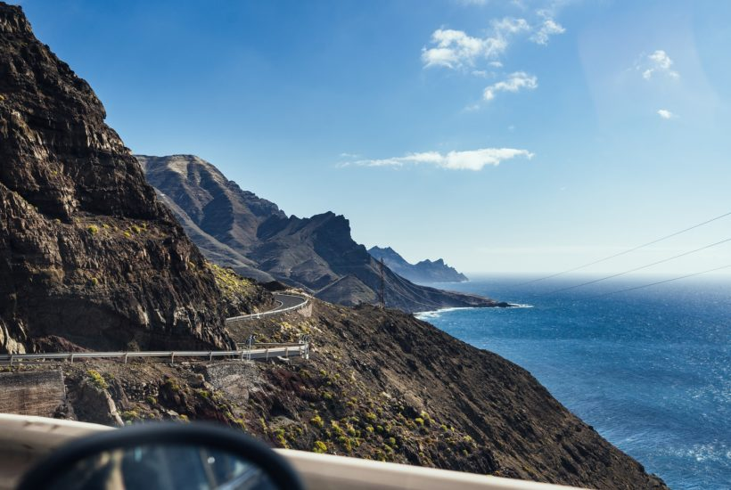 This picture show the Canary Island coast.